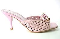 Сабо женские натуральная кожа на каблуке