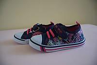 Кеды мокасины детские на девочку TOM&MIKI 25 размер. Детская летняя обувь. Текстильная обувь