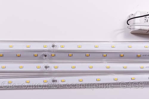 Лед панель   32W 6500К прозрачный профиль