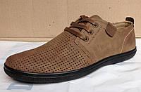 Мужские летние туфли (коричневые)