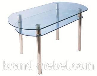 Стол стеклянный КС-5 прозрачный