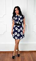 Стильное летнее шифоновое платье Лара