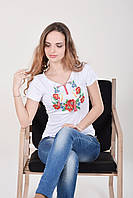 Вышитая женская футболка  639 (Л.Л.Л)
