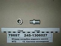 Штуцер патрубка водяного насоса (пр-во ММЗ)