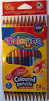 Карандаши Цветные Двусторонние. 12 шт. 24 цвета 33046 Colorino Польша