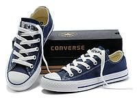 "Кеды Converse All Star Низкие ""Синие"" (Копия ААА+), фото 1"