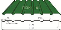 Профнастил ПС(К)-18 (Бавария Профиль), Харьков