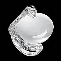 Кольцо змея хранительница покрытие платиной 18К