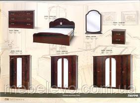 Кровать Лаура 180 2сп 1165х2020х2100мм Світ Меблів, фото 3