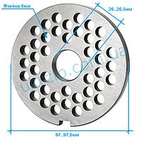 Решетка Unger B/98 ячейка 6 мм для мясорубки Fama, Fimar, Everest, Sirman