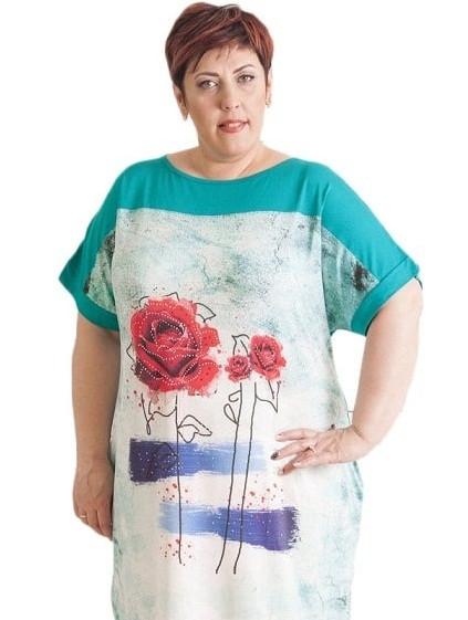 Свободное платье большого размера купить в интернет магазине