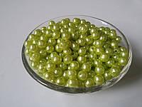 Намистина перли 0,6 см салатовий, фото 1