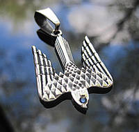"Кулон ""Тризуб Сокол"" серебро 925 - малый"