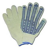 Перчатки рабочие трикотажные с крупной ПВХ