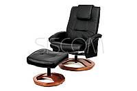 Кресло для отдыха с массажем черное