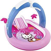 """Детский надувной игровой центр Intex 57137  """"Hello Kitty"""" с душем"""
