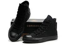 """Кеды Converse All Star Высокие """"Черные"""" (Копия ААА+), фото 1"""