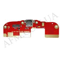 Шлейф (Flat cable) HTC 300 Desire/  HTC 500 Desire с гнездом зарядки,   микрофоном и компонентами
