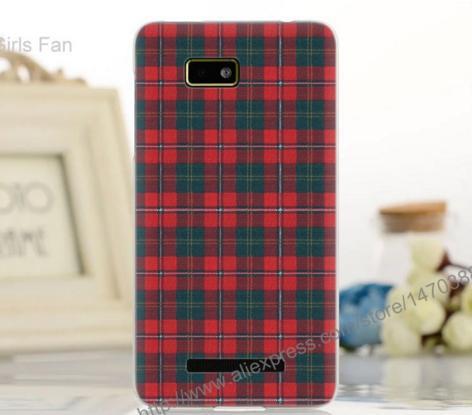 Силиконовый чехол накладка для HTC Desire 400 / One Su T528w с картинкой клетка