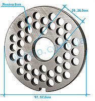 Решетка Unger B98 ячейка 8 мм для мясорубки Fama, Fimar, Everest, Sirman