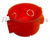 Установочная коробка стыковочная d60 красная