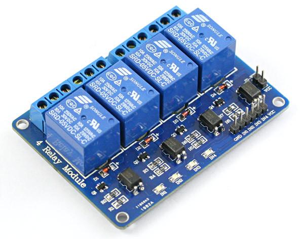 Arduino релейный модуль 4 канала