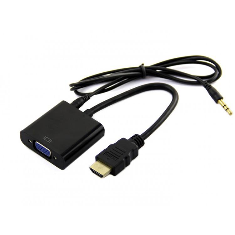 Конвертер видео адаптер HDMI - VGA со звуком