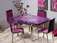Стол стеклянный GD-082 Фиолетовый