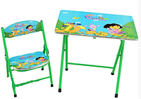Столик зеленый Bambi DT 19-12 со стулом Даша и друзья HN