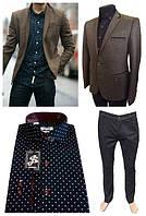 Трикотажный пиджак и рубашка с принтом — тренд сезона