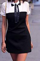 Стильное мини-платье (22)165Ткань: коттон мемори+паплин