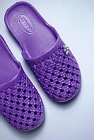 Фиолетовые шлепанцы подростковые