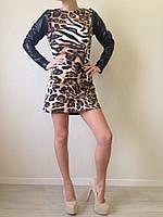 Леопардовое платье (24)297. Размеры: S,M,L.