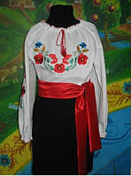 """Вышиванка. Вышитая блуза для девочек """"Летнее поле"""""""