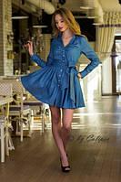 Шикарное женское Платье (16)№1017 Размеры: S, M, L Материал: джинс, фото 1