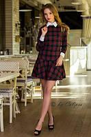 женское платье  КЛЕТКА   (16)№1019 размеры:  S,M,L  42-46., фото 1