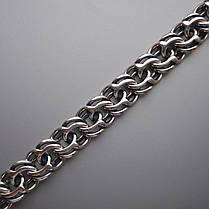 Серебряная мужская цепочка, 550мм, 27 грамм, плетение Бисмарк московский, фото 3