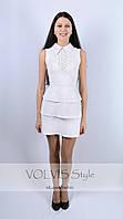 Платье Victoria Beckham ярусы (29)3004 Материал: легкий тиар+вставка коттон трафарат