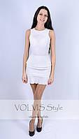 Платье Victoria Beckham + гофрированный шифон (29)3005 Материал: легкий тиар+гофрированный шифон