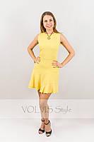 Платье Victoria Beckham тройной волан сбоку (29)3027 Материал: легкий тиар, фото 1