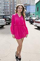 Платье с расклешенным рукавом (29)3033 Материал: креп, фото 1