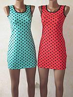 Платье мини женское летнее трикотажное из вискозы, р.р.40-54