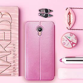 Чехол книжка для Meizu M1 Metal боковой, MOFI Vintage Classical, Розовый