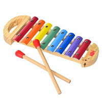 IE588 Музыкальная деревянная игрушка ксилофон на 8 тонов