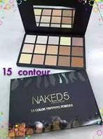 Пудра -  тримминг Naked 5 15 colors ( Найкед5 15 цветов)