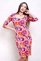 женское летнее платье в украине | Пионы 2 платье Вики д/р