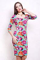 женское платье большого размера | Пионы 4 платье Вики д/р