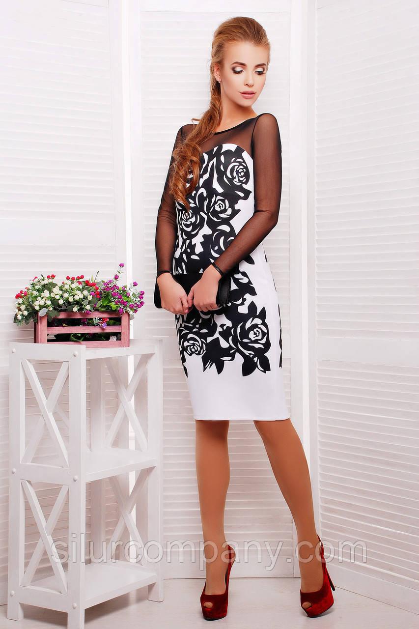 Женская одежда больших размеров летние платья   Черные розы платье Донна  д р - Интернет c5af5a39a06