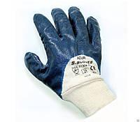 Перчатки рабочие частично залитые манжета нитриловые, фото 1
