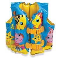 Детский надувной жилет с рыбками Intex 59661